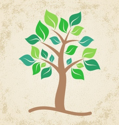 Brown tree vector