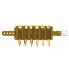 Cartridge belt with patron vector