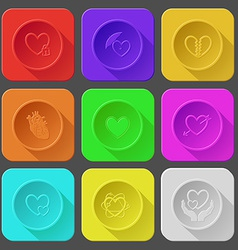 closed heart protection love unrequited love heart vector image
