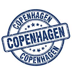 Copenhagen blue grunge round vintage rubber stamp vector