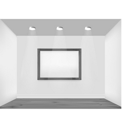 empty white wall vector image vector image