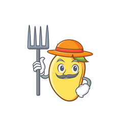 Farmer mango character cartoon mascot vector