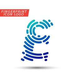 Fingerprint logo font 05 vector