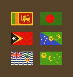 Flags of sri lanka bangladesh east timor christmas vector
