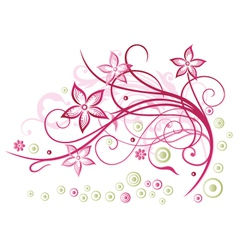 Floral element blossoms vector image vector image