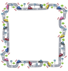 Frame with road vector