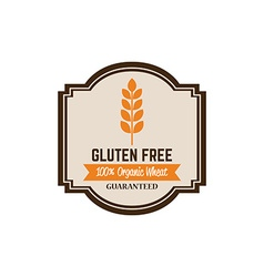 Gluten free label vector image