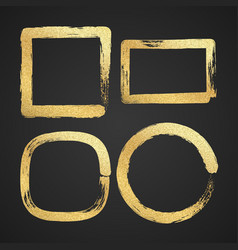 golden luxury painted grunge border frames vector image vector image