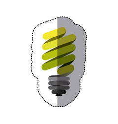 green sticker eco bulb icon vector image