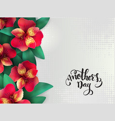 Mothers day lettering with blooming vector