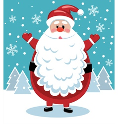 santa with big beard vector image vector image