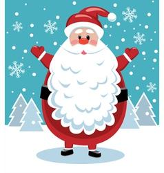 santa with big beard vector image