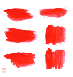 Set of bloody red watercolor vector