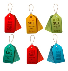 Set of colorrful sale tags Concept of discount vector image