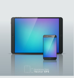 Set of Smart phone and Tablet vector image