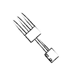 Sketch fork utensil cutlery picnic vector
