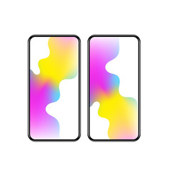 Smartphone with colorful screen vector
