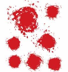 stain ink splatter vector image vector image