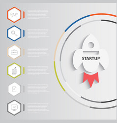 startup infographics vector image