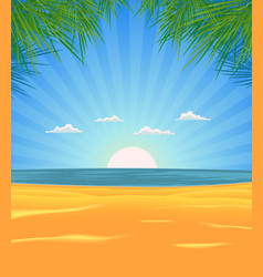 summer beach landscape vector image