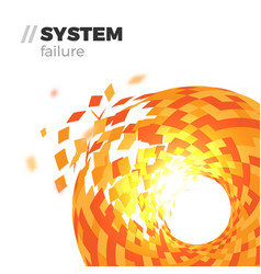 system failure background vector image vector image