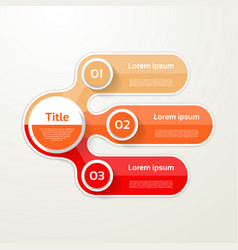 Three elements banner 3 steps design chart vector
