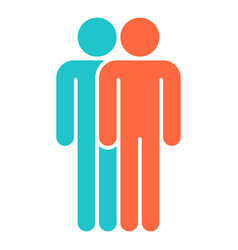 two man sign people icon vector image vector image