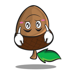 upside down acorn cartoon character style vector image vector image
