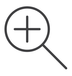 zoom in line icon web and mobile magnifying sign vector image