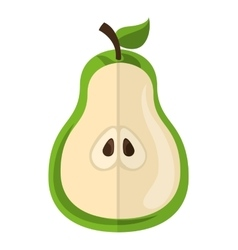 Pear fresh fruit icon vector