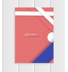 Brochure in material design style vector