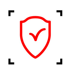 Shield sign as protection and insurance symbol vector