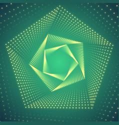 Infinite pentagonal twisted tunnel vector