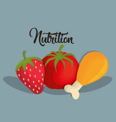 Nutrition concept design vector