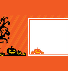 Halloween greeting card style collection vector