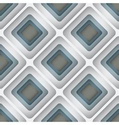 3D Rhombuses Seamless Pattern vector image vector image
