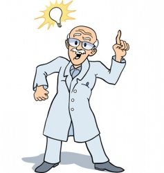 scientist and invention vector image