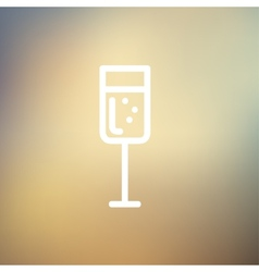Glass of champagne thin line icon vector