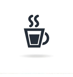 icon of cup with tea or coffee vector image