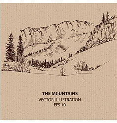 View In the Mountains vector image