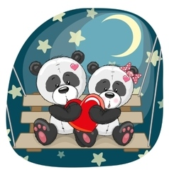 Lovers pandas vector
