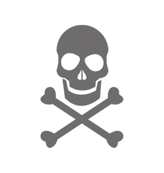 Skull danger icon vector