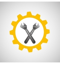 Wrench construction tool icon vector