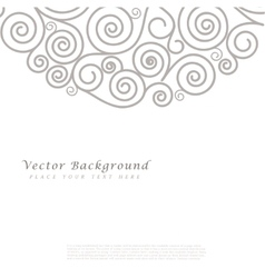 Abstract background with curls vector image vector image