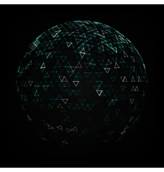 Abstract Low Poly Sphere vector image