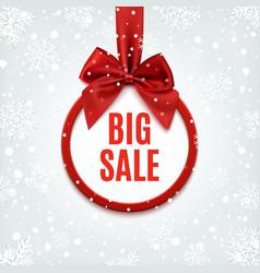 Big sale round banner vector image vector image