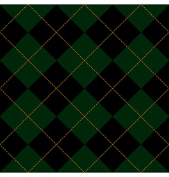 Black Green Diamond Background vector image vector image