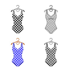 blue and white swimsuit for competitive swimming vector image vector image