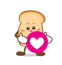 Bread 16 isolated happy smile slice of bread vector