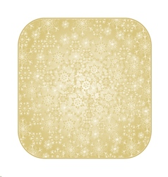 Button square christmas with snowflakes vector